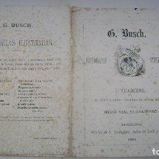 Tebeos: HISTORIETAS ILUSTRADAS G BUSCH 1881 C VERDAGUER BARCELONA CUADERNO SIETE 7. Lote 94591651