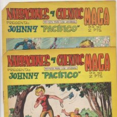 Tebeos: JOHNNY PACIFICO Nº 3 Y 4. MAGA 1965.. Lote 94987635