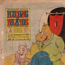 Tebeos: FLECHAS Y PELAYOS. Nº 374. 10 DE FEBRERO DE 1946. Lote 95807631
