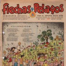 Tebeos: FLECHAS Y PELAYOS. Nº 414. 22 DE DICIEMBRE DE 1946. Lote 95812359
