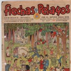 Tebeos: FLECHAS Y PELAYOS. Nº 407. 3 DE NOVIEMBRE DE 1946. Lote 95812699
