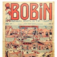 Tebeos: TEBEO BOBIN Nº 141 AÑO 4 PERIÓDICO INFANTIL DE RISA Y ALEGRÍA. EL GATO NEGRO. BARCELONA AÑOS 30. Lote 96183919
