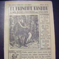 Tebeos: JML TEBEO COMIC EL PRINCIPE BANDIDO, 16 AGOSTO 1930, EDITORIAL VECCHI Nº 34. VER FOTOS. RARO. Lote 96669287