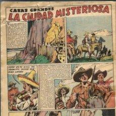 Tebeos: S. MESTRES - CASAS GRANDES LA CIUDAD MISTERIOSA - 13 HOJAS ORIGINALES - CHICOS 1942 - Hª COMPLETA. Lote 97729551