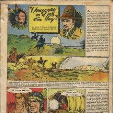 Tebeos: TOMAS PORTO - VENGANZA EN EL PAIS SIN LEY - 15 HOJAS ORIGINALES DE CHICOS 1942 - Hª COMPLETA. Lote 97730471