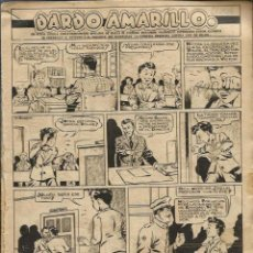 Tebeos: ALEJANDRO BLASCO - DARDO AMARILLO - 20 HOJAS ORIGINALES DE CHICOS 1944 - Hª COMPLETA. Lote 97731831