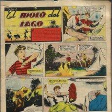 Giornalini: ALEJANDRO BLASCO - EL IDOLO DEL LAGO - 15 HOJAS ORIGINALES DE CHICOS 1945 - Hª COMPLETA. Lote 97733395