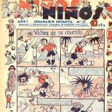 Tebeos: COMIC ORIGINAL SEMANARIO INFANTIL NIÑOS Nº 39. Lote 98434867
