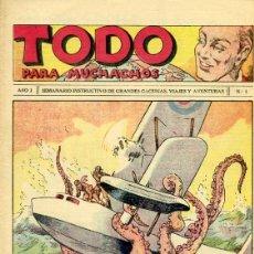 Tebeos: COMIC TODO PARA MUCHACHOS Nº 1 DE LA COLECCION . Lote 98478707