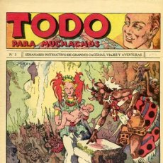 Tebeos: COMIC TODO PARA MUCHACHOS Nº 3 . Lote 98478751