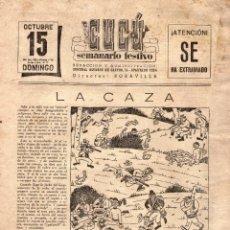 Tebeos: CUCÚ - SEMANARIO FESTIVO - SIN TAPAS - AÑOS 40.. Lote 98487891