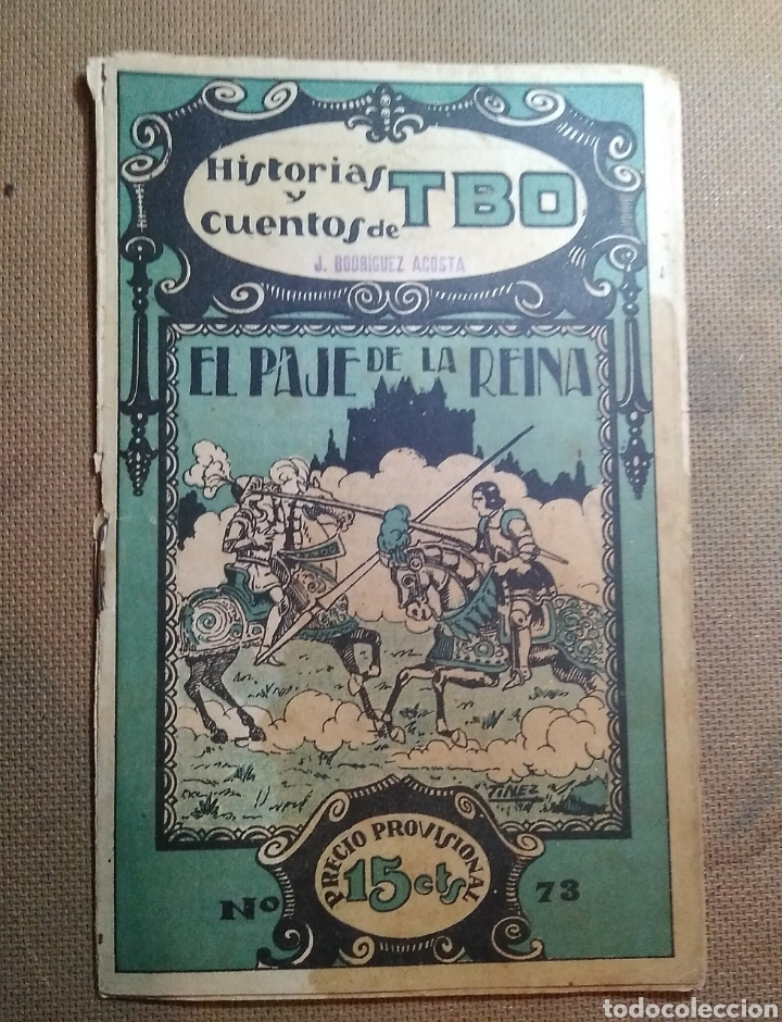 HISTORIAS Y CUENTOS DE TBO, 1919. NÚMERO 73 (Tebeos y Comics - Tebeos Clásicos (Hasta 1.939))