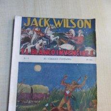 Tebeos: JACK WILSON EL BLANCO INVENCIBLE : EL CABALLO FANTASMA ED. VECCHI AÑOS 30 ?? (VER DESCRIPCIÓN). Lote 98142075