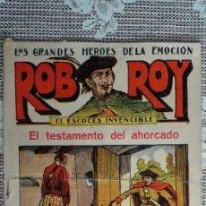 Tebeos: ROB ROY - EL ESCOCES INVENCIBLE, Nº 13, EL TESTAMENTO DEL AHORCADO, EDITORIAL EL GATO NEGRO. Lote 103759439