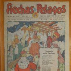 Tebeos: TEBEO - FLECHAS Y PELAYOS - AÑO VIII - Nº 416 - 5 DE ENERO DE 1947 - SEMANARIO FRENTE DE JUVENTUDES. Lote 105819627