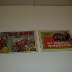 Tebeos: EL HÉROE CRISTIANO, AÑO 1.965. Nº 1 Y 2. SON ORIGINALES MUY NUEVOS PUBLICACIONES JUVENILES.. Lote 106035863