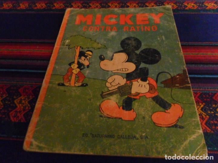 AVENTURAS DE MICKEY Nº 5 CONTRA RATINO CALLEJA 1935 WALT DISNEY. REGALO VACACIONES DE VERANO. MOLINO segunda mano