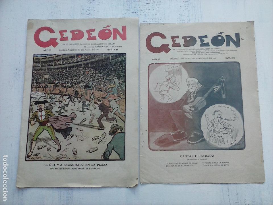 GEDEÓN ORIGINALES NºS 446 Y 519 - 10 JUNIO 1904 MADRID - 5 NOVIEMBRE 1905 (Tebeos y Comics - Tebeos Otras Editoriales Clásicas)