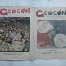 Tebeos: GEDEÓN ORIGINALES NºS 446 Y 519 - 10 JUNIO 1904 MADRID - 5 NOVIEMBRE 1905. Lote 108312695