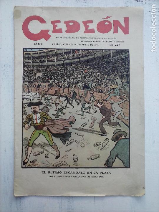 Tebeos: GEDEÓN ORIGINALES nºs 446 y 519 - 10 junio 1904 Madrid - 5 noviembre 1905 - Foto 3 - 108312695