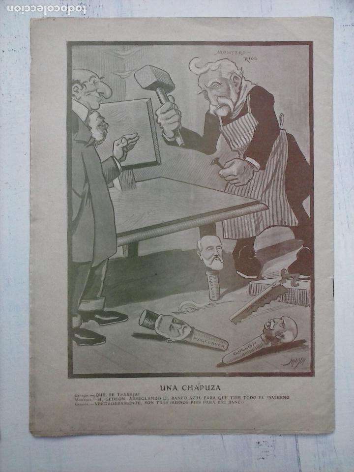 Tebeos: GEDEÓN ORIGINALES nºs 446 y 519 - 10 junio 1904 Madrid - 5 noviembre 1905 - Foto 8 - 108312695
