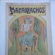 Tebeos: MAMARRACHOS Nº 1 ORIGINAL - 6 ENERO 1906 BARCELONA. Lote 108368751