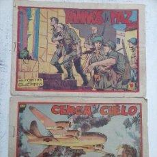 Tebeos: HISTORIAS DE GUERRA ORIGINALES NºS 6 Y 8 EDITORIAL FAVENCIA 1952 - J.M. ORTÍZ DIBUJOS. Lote 108753779