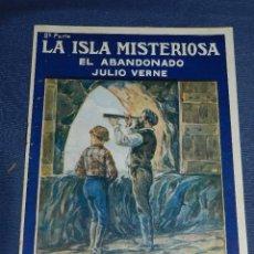 Livros de Banda Desenhada: (M) JULIO VERNE - LA ISLA MISTERIOSA EL ABANDO NUM 4 - PUBLICACIONES MUNDIAL AÑOS 20, SEÑALES DE USO. Lote 108814355