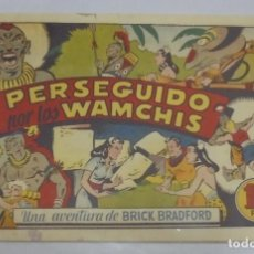 Tebeos: TEBEO. PERSEGUIDO POR LOS WAMCHIS. UNA AVENTURA DE BRICK BRADFORD. EDITORIAL BRUGUERA. ORIGINAL. Lote 114257204