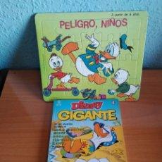 Tebeos: PUZZLE AÑOS 80 PATO DONALD Y DISNEY GIGANTE 1991 CON 132 PAG. Lote 110020134