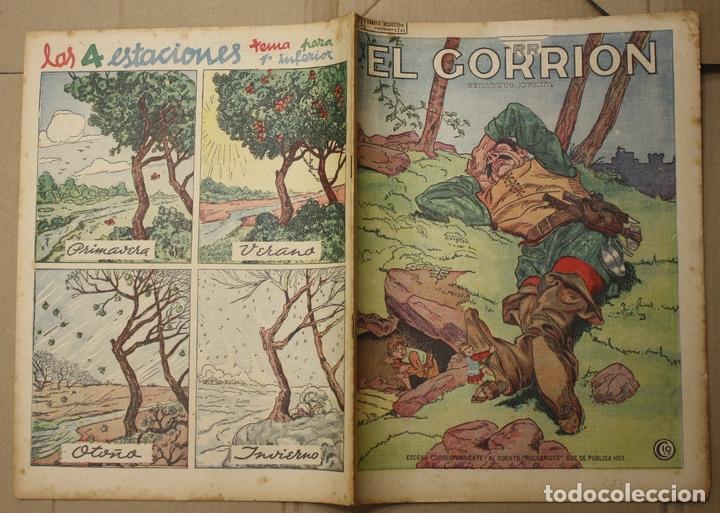 EL GORRION SEMANARIO INFANTIL. Nº 204. 28 DE OCTUBRE DE 1936. PULGARCITO (Tebeos y Comics - Tebeos Clásicos (Hasta 1.939))