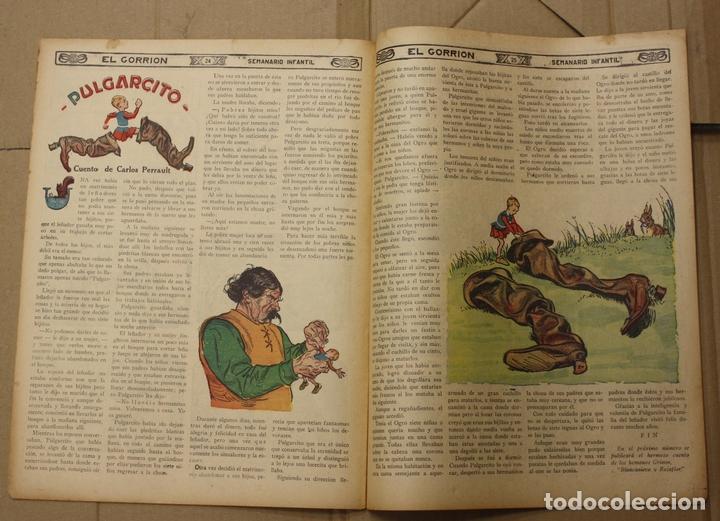 Tebeos: EL GORRION SEMANARIO INFANTIL. Nº 204. 28 DE OCTUBRE DE 1936. PULGARCITO - Foto 2 - 111590566