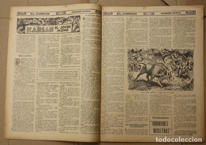 Tebeos: EL GORRION SEMANARIO INFANTIL. Nº 204. 28 DE OCTUBRE DE 1936. PULGARCITO - Foto 3 - 111590566