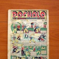 Tebeos: POCHOLO - Nº 220, POCHOLO, VAQUERO - EDITORIAL S. VIVES 1930 - TAMAÑO 30X20 CM.. Lote 113459755