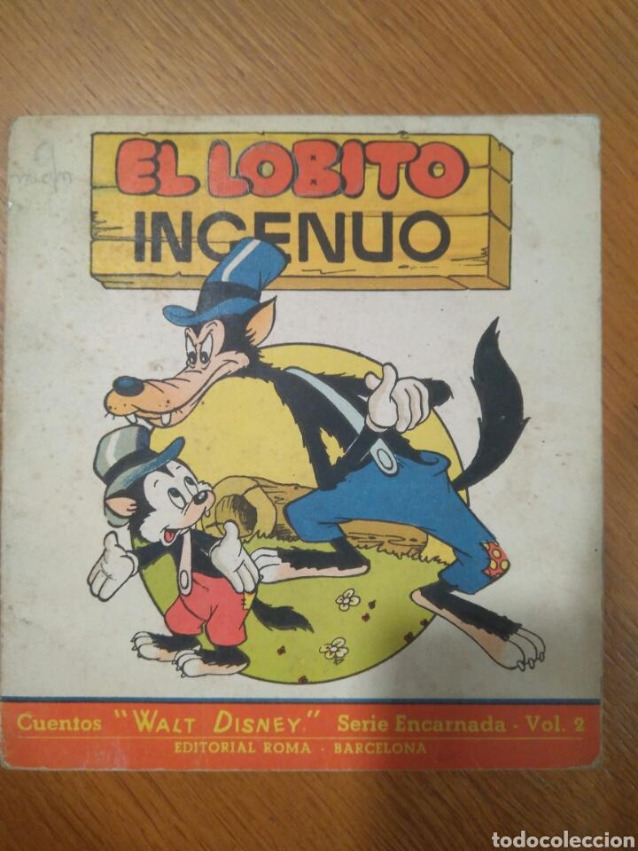 EL LOBITO INGENUO CUENTOS WALT DISNEY EDITORIAL ROMA SERIE ENCARNADA VOLUMEN 2/ ORIGINAL (Tebeos y Comics - Tebeos Otras Editoriales Clásicas)