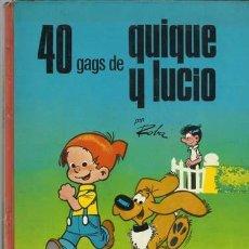 Tebeos: 40 GAGS DE QUIQUE Y LUCIO, 1971, ARGOS, BUEN ESTADO. Lote 113558783