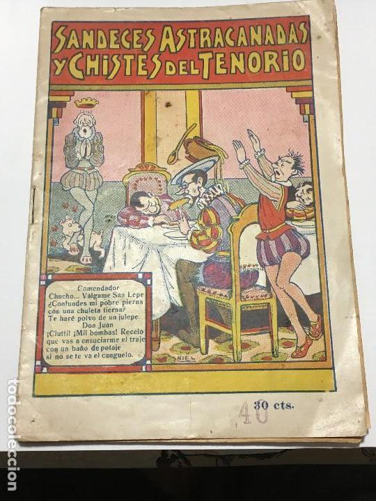 SANDECES , ASTRACANADAS Y CHISTES DEL TENORIO, COLECCIÓN TENORIO, EDITORIAL EL GATO NEGRO, DE 1933 (Tebeos y Comics - Tebeos Clásicos (Hasta 1.939))