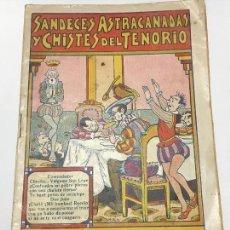 BDs: SANDECES , ASTRACANADAS Y CHISTES DEL TENORIO, COLECCIÓN TENORIO, EDITORIAL EL GATO NEGRO, DE 1933. Lote 114096923