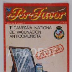 Tebeos: POR FAVOR Nº 53 - 7 JULIO 1975 - PUNCH EDICIONES. Lote 114350075