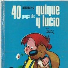 Tebeos: 40 GAGS DE QUIQUE Y LUCIO, ÁLBUM 2, 1971, ARGOS, USADO. Lote 114417759