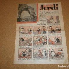 Tebeos: JORDI SEMANARIO INFANTIL: AÑO 1933. Lote 115240975
