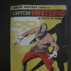 Tebeos: CAPITAN MISTERIO-ORIGINAL- ILUSTRADO POR FREIXAS- CONTRAPORTADA PAPEL BLANCO- VER FOTOS - (V-13.845). Lote 115519203