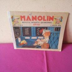 Tebeos: MANOLIN - REVISTA INFANTIL QUINCENAL - AÑO 1 NÚM 4 - 1 ABRIL 1928. Lote 115598611