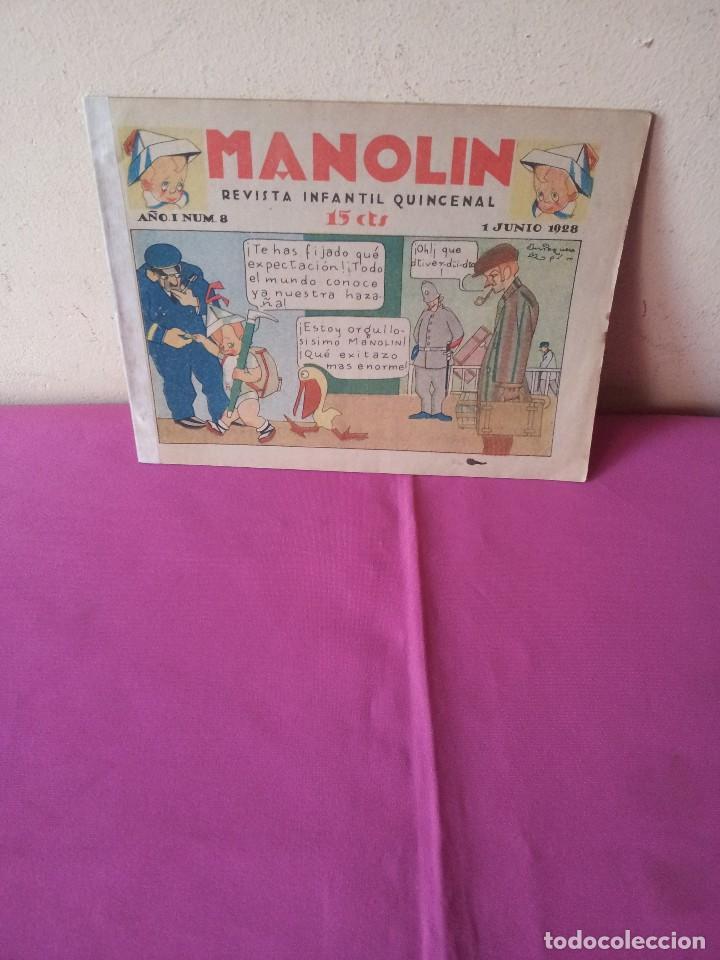 MANOLIN - REVISTA INFANTIL QUINCENAL - AÑO 1 NÚM 8 - 1 JUNIO 1928 (Tebeos y Comics - Tebeos Clásicos (Hasta 1.939))