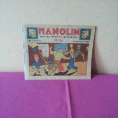 Tebeos: MANOLIN - REVISTA INFANTIL QUINCENAL - AÑO 1 NÚM 20 - 1 DICIEMBRE 1928. Lote 115612487