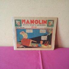 Tebeos: MANOLIN - REVISTA INFANTIL QUINCENAL - AÑO 2 NÚM 22 - 1 ENERO 1929. Lote 115612755