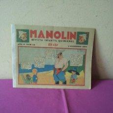 Tebeos: MANOLIN - REVISTA INFANTIL QUINCENAL - AÑO 2 NÚM 24 - 1 FEBRERO 1929. Lote 115612883