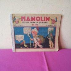 Tebeos: MANOLIN - REVISTA INFANTIL QUINCENAL - AÑO 1 NÚM 3 - 1 MARZO 1928. Lote 115613331