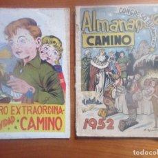 Tebeos: CAMINO -ALMANAQUE 1952 Y EXTRORDINARIO DE NAVIDAD. Lote 116094303