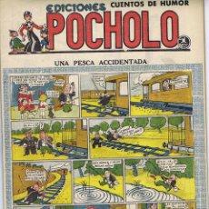 Tebeos: POCHOLO. UNA PESCA ACCIDENTADA. Lote 116111587